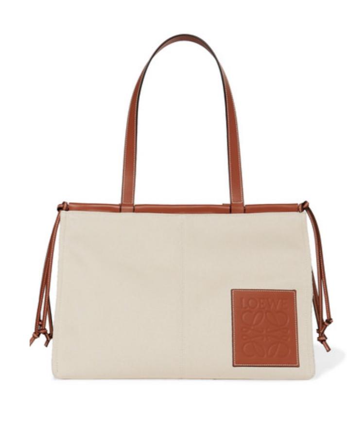 loewe canvas bag in light beige and brown