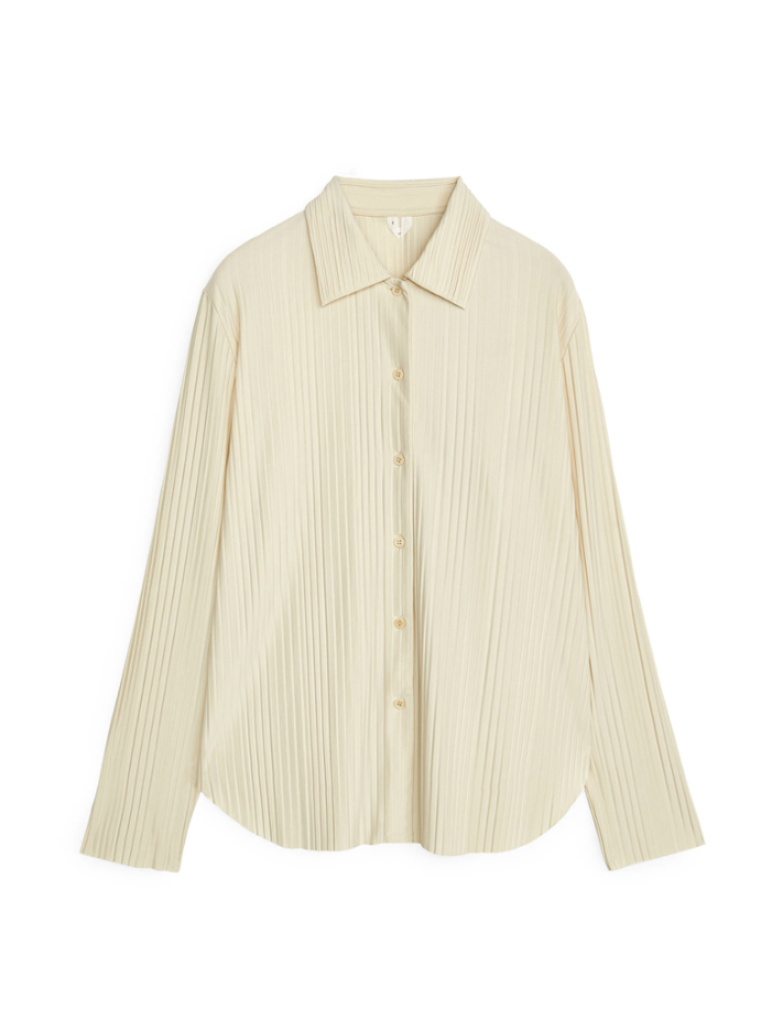 pleated jersey shirt from arket