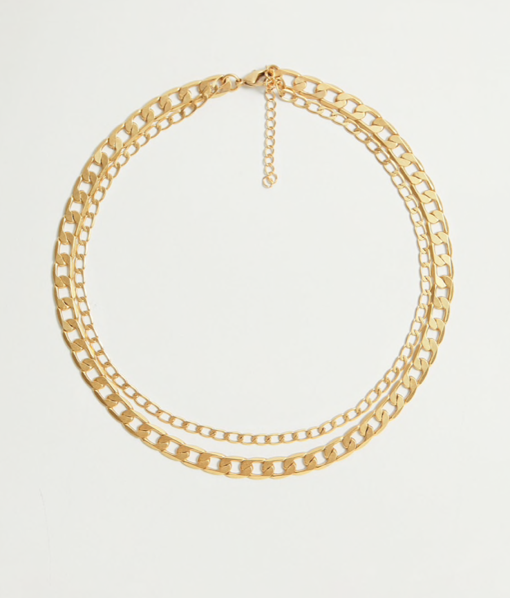 gold double chain from Mango